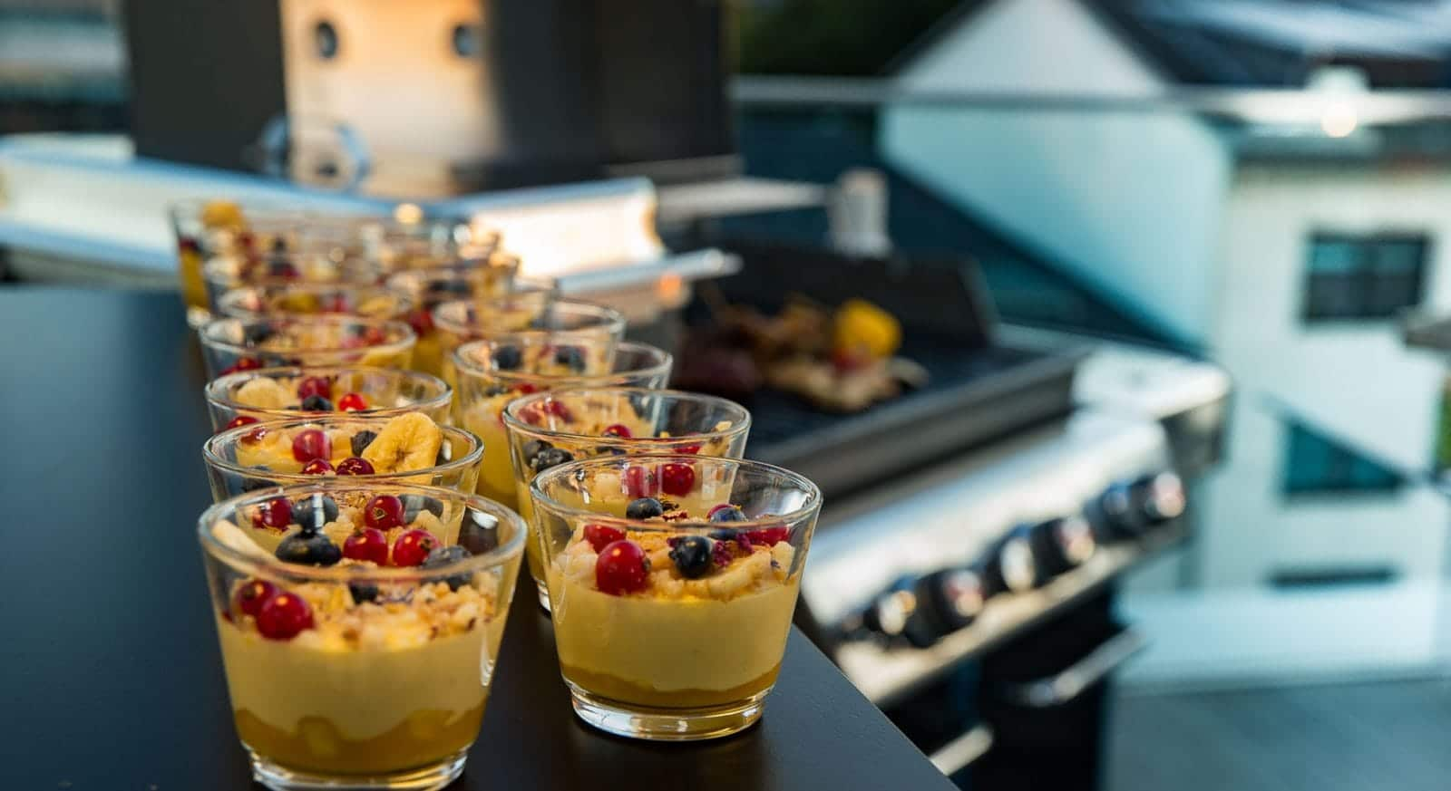 Nachspeise: Grill Catering & Barbecue mit klassischem Grillbuffet. Catering Service & Events Frankfurt am Main