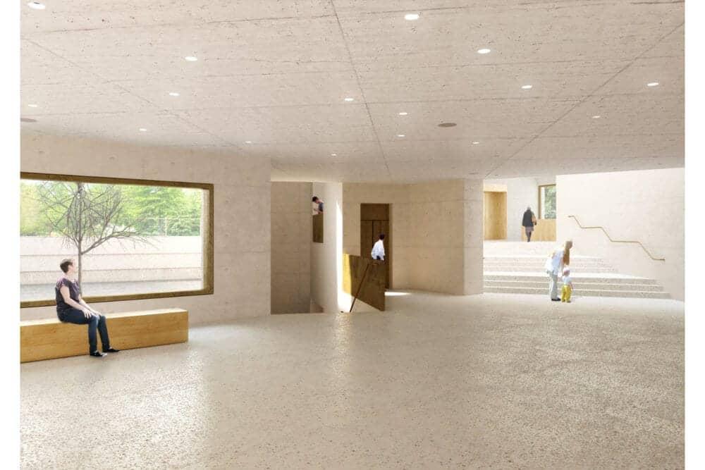 Moderne Location Terrasse in Frankfurt mieten - Vermietung im Jüdischen Museum in Frankfurt am Main - Bertha-Pappenheim-Platz 1, 60311 Frankfurt am Main Telefon: 06107 4056730 - FLOWDELI.de